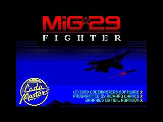 Soviet Fighter MiG 29 inspiration