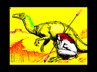 Woman and dinosaur (Woman and dinosaur)