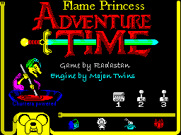 Flame Princess Adventure Time - menu