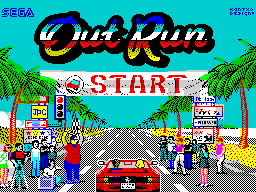 Out Run Colorful Homage-Fan Art ZX Loading Screen