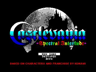 Castlevania menu (Castlevania menu)