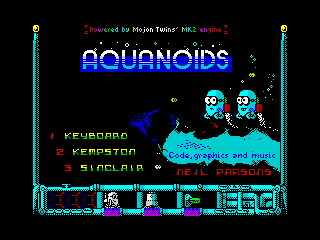 Aquanoids Videogame - Title screen (Aquanoids Videogame - Title screen)