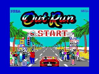 Out Run Colorful Homage-Fan Art ZX Loading Screen (Out Run Colorful Homage-Fan Art ZX Loading Screen)
