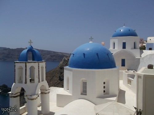 Domes of Santorini inspiration