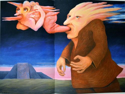 The departure of a demon (J.Arrak copy) inspiration