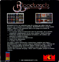 Bloodwych(MCMSoftwareS.A.) Back