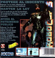 RoboCop3(ErbeSoftwareS.A.) Back