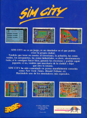 SimCity(ErbeSoftwareS.A.) Back
