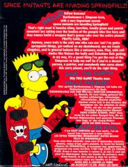 Simpsons-BartVsTheSpaceMutantsThe Back