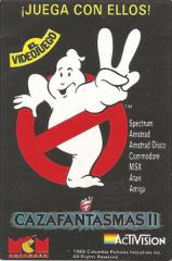 GhostbustersII(CazafantamasII)(MCMSoftwareS.A.) MiniAdvert-Back