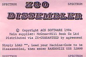 Z80Dissembler(ZX-Guaranteed)