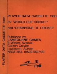 ChampionsOfCricket+WorldCupCricket-PlayerDataCassette1991