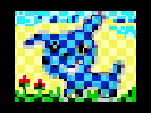 Smile, blue puppy!