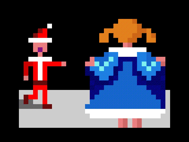 За тобою бегала, Дед Мороз