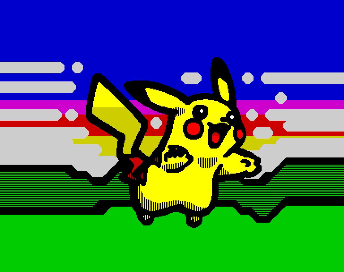 Pikachu (w/ border)