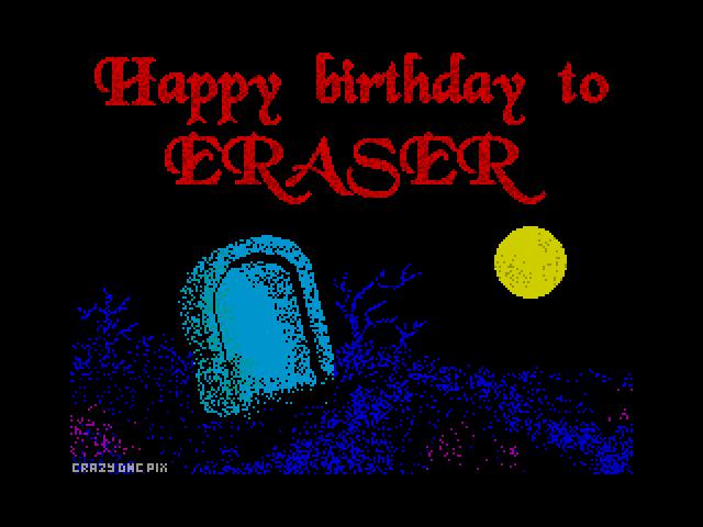 Happy Birthday to Eraser 3