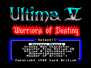 Ultima V - Concept 1 (Ultima V - Concept 1)