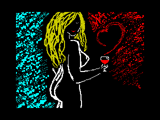Girl with wine (Girl with wine)