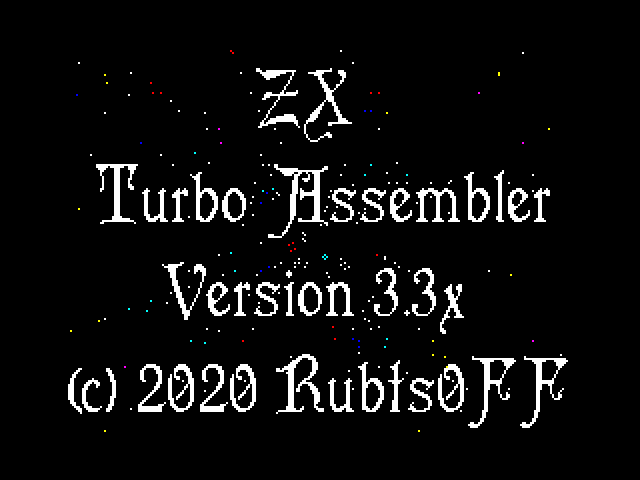 ZX Turbo Assembler v3.3.07