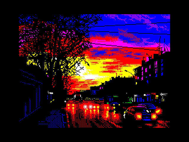 Highlights at sunset