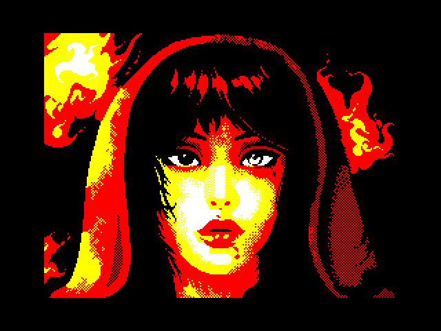 Girl in fire