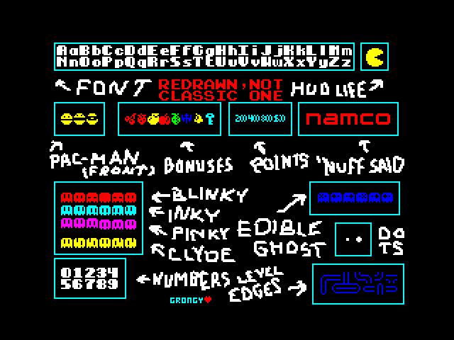 Pac-Man ZX Graphics