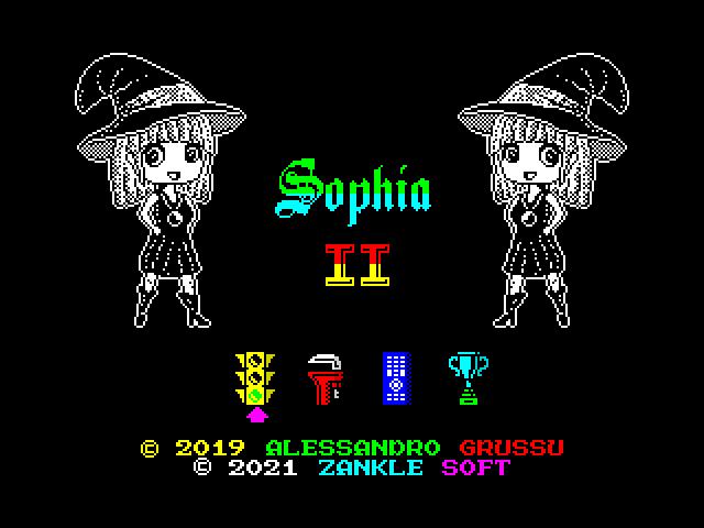 Sophia II (Start Menu Screen)