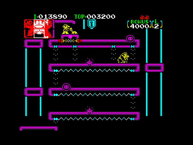 Mock-up: Donkey Kong Jr. (Level 3)