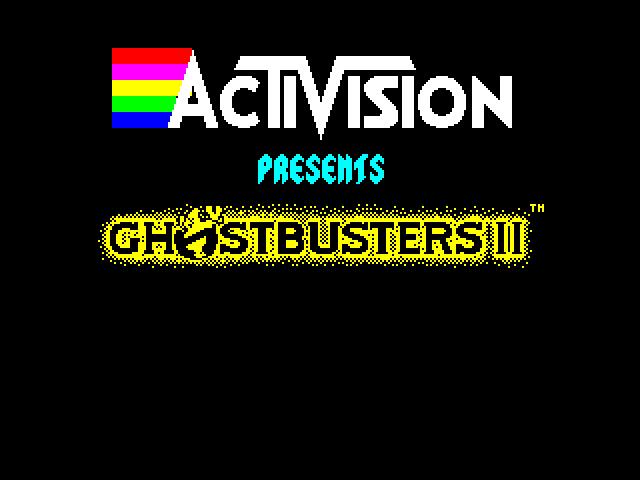 Ghostbusters II logos