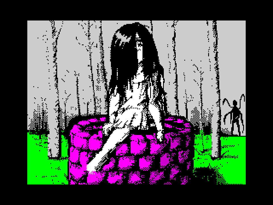 Samara in the forest of Slenderman