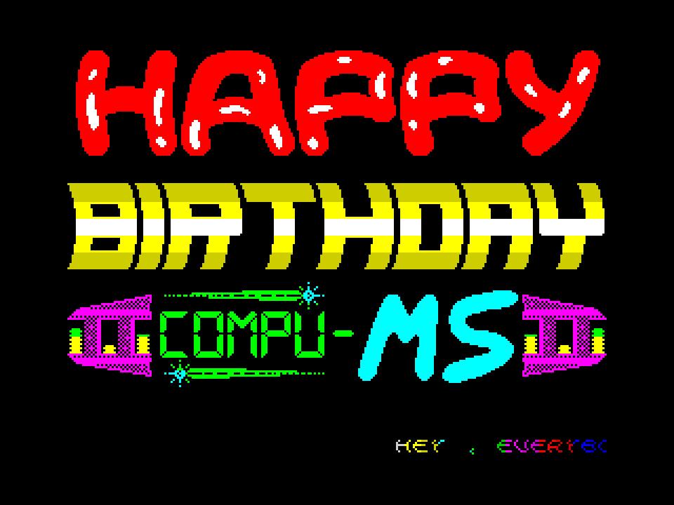 Compu MS Happy Birthday