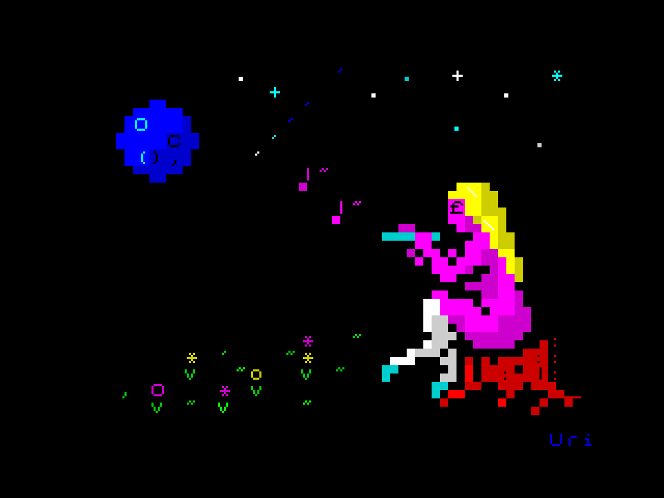 Lullaby of Nature (ZX-ASCII-art)