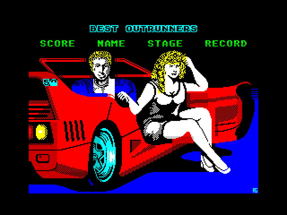 Turbo Out Run high scores