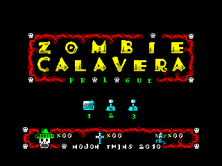 Zombie Calavera Prologue Menu