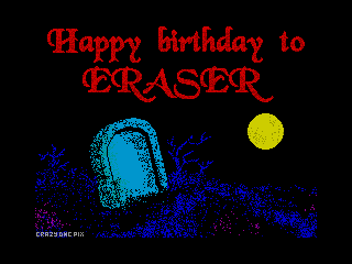 Happy Birthday to Eraser 3 (Happy Birthday to Eraser 3)