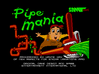 Pipe Mania Titlescreen