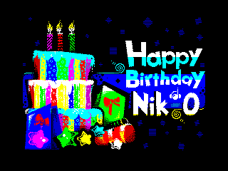 Happy Birthday Nik-O #20 (Happy Birthday Nik-O #20)