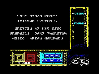 Last Ninja Remix menu (Last Ninja Remix menu)