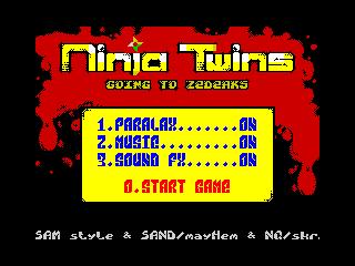 Ninja Twinz Menu (Ninja Twinz Menu)