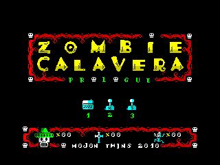 Zombie Calavera Prologue Menu (Zombie Calavera Prologue Menu)