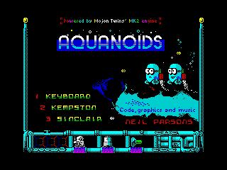 Aquanoids Videogame - Title screen (Aquanoids Videogame - Title screen)