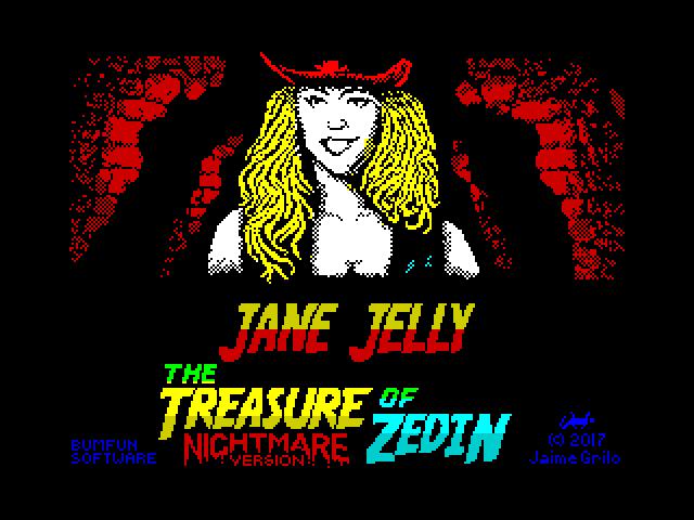 The Adventures of Jane Jelly: The Treasure of Zedin (Nightmare Version)