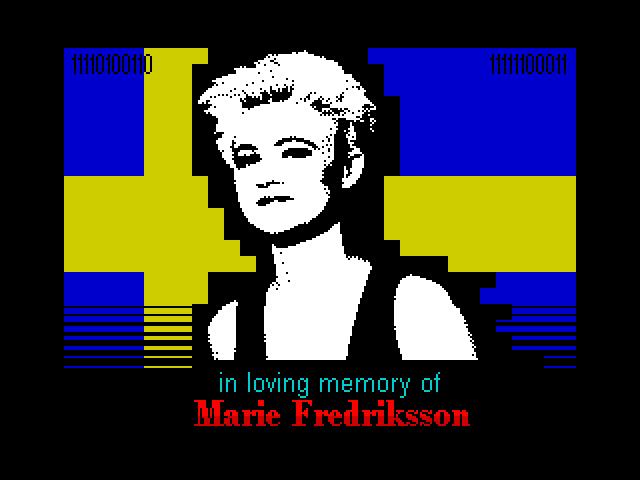 In Loving Memory of Marie Fredriksson