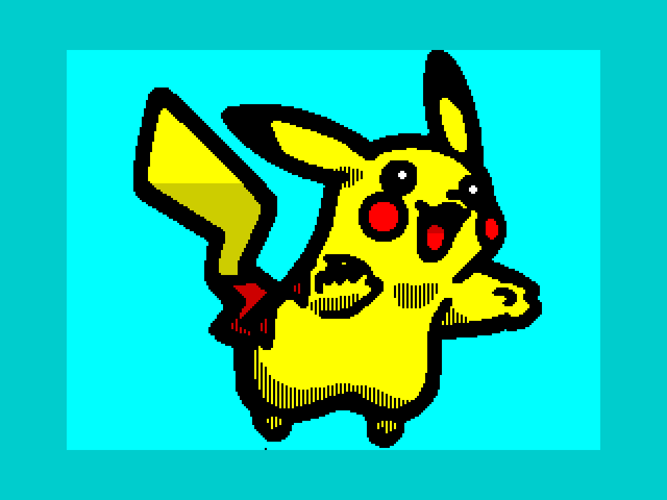 Pikachu (without border and background)