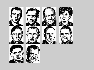 Ad Lunam Plus cosmonauts portraits (Ad Lunam Plus cosmonauts portraits)