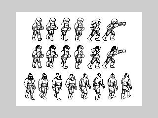 Billy and Jimmy Lee/Abobo spritesheet 1 (Billy and Jimmy Lee/Abobo spritesheet 1)