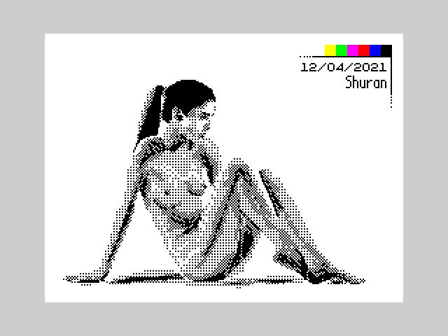 Натурщица для pixelart