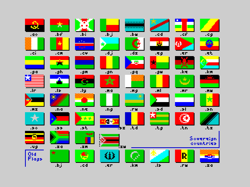Flags of the World 1982-2012 - Africa