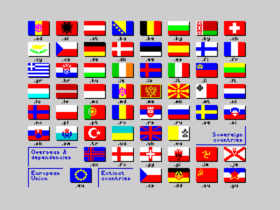 Flags of the World 1982-2012 - Europe