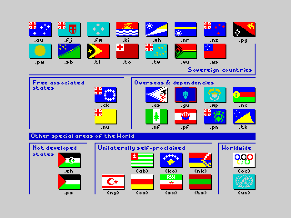 Flags of the World 1982-2012 - Oceania & other special areas